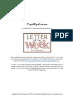 Equality Game
