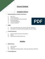 CCSP Syllabus Detailed Course Content