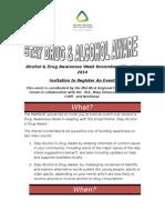 Drug Awareness Week Nov 2014 Brief & Registration Form