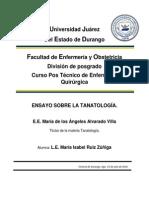 Tanatología Ensayo