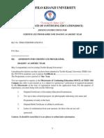 Joning Instruction Certificate 2014