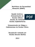 MMPI 2 escalas de contenido y suplementarias.
