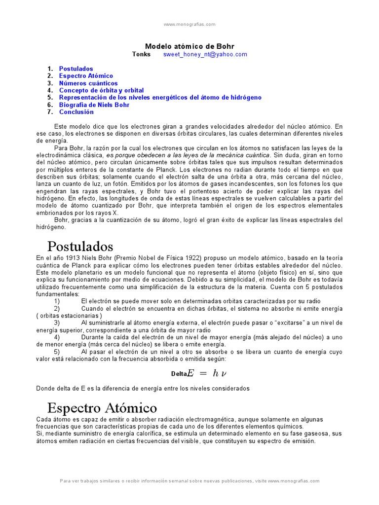 Modelo atomico bohr urtaz Images