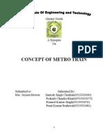 Concept of Metro Train