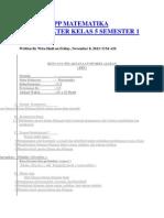 Contoh Rpp Matematika Berkarakter Kelas 5 Semester 1 2013fat 1