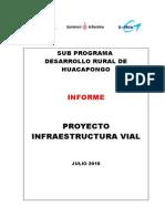 Informe Infraest Vial Huacapongo