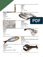 Pescados y Mariscos (vocabulario en diferentes idiomas)