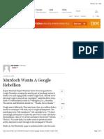 Murdoch Wants a Google Rebellion