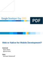 Web or Native for Mobile Development