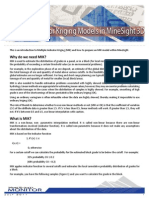 Multiple Indicator Kriging Models in MineSight 3D