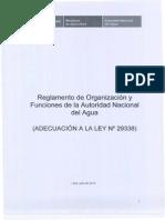 Reglamento de Organizacion y Funciones de La Ana