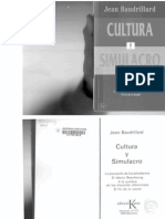Cultura y Simulacro,Braudillard