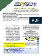 Bobcat Bulletin 8-4-14