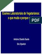 avaliação laboratorial vegetarianos