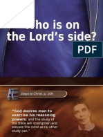 Who is on the Lord's side