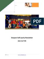 Deepam Half-yearly Newsletter Jul'14 v1