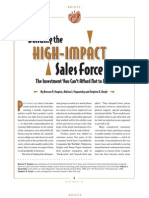 Building The High-Impact Sales Force