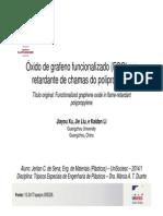 Óxido de Grafeno Funcionalizado (FGO) Em Retardante de Chamas Do Polipropileno