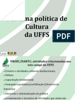 Política de Cultura Na UFFS - Claiton PPT