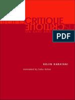 Kojin Karatani - Transcritique on Kant and Marx