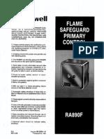 Honeywell Ra890 Flame Safety