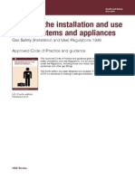 l56 Safety in the Installation and Use of Gas Systems and Appliances