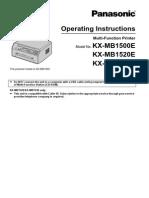 KX MB1500E English