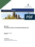 Legislative Summary of Bill C33