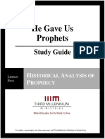 He Gave Us Prophets - Lesson 5 - Study Guide