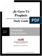 He Gave Us Prophets - Lesson 8 - Study Guide
