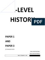 A Level History Notes for Paper 1 and Paper 3