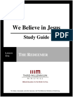 We Believe In Jesus - Lesson 1 - Study Guide