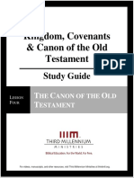 Kingdom, Covenants and Canon of the Old Testament - Lesson 4 - Study Guide