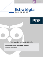 Bônus - 100 Questões Inéditas - Legislação Do Sus