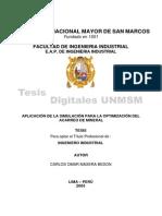 Aplicacion de La Simulacion Para La Optimizacion Del Acarreo de Mineral