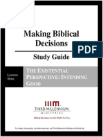 Making Biblical Decisions - Lesson 9 - Study Guide