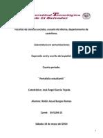Expresión Oral y Escrita Del Español (1)