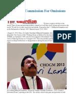 Sri Lanka - Commission for Omissions