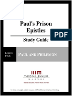 Paul's Prison Epistles - Lesson 4 - Study Guide