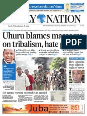 2014-06-18 | Nairobi | Al Shabaab (Militant Group)