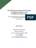 Trade, Draft, Salary, CB