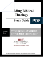 Building Biblical Theology - Lesson 2 - Study Guide