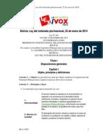 Ley Del Notario Plurinacional