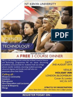 "Full Speech by Stessy Nyaga, during 3 course Dinner Hosted By Mount Kenya University In London. ""Engaging with the Diaspora"" on 02 August 2014, at the Holiday Inn, Bloomsbury, London"