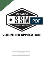 SSM Corona Volunteer Application