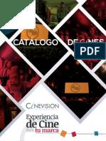 Catalogo de Cines Cinevision de Colombia