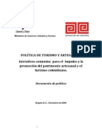 Politica Turismo y Artes an i as 2009