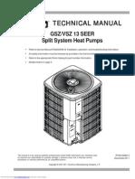 Goodman Technical Manual Gszvsz_13_seer