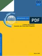 UE Líneas Directrices Gestión Del Ciclo Del Proyecto