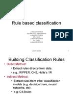 Rule Based Classification